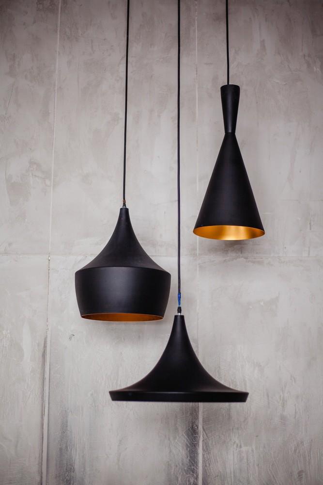 Matte zwarte lampen