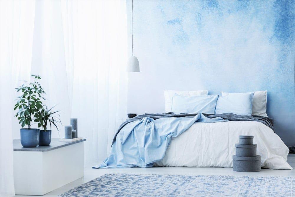 Slaapkamer aangenaam in de zomer