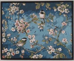 Schilderen op nummer - Vogels met bloemen